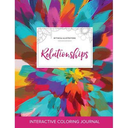 adult coloring journal relationships mythical illustrations color burst
