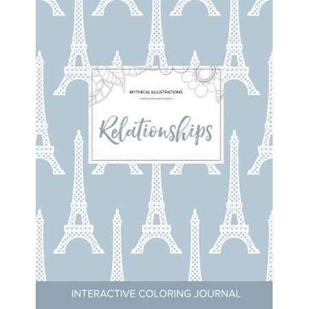 adult coloring journal relationships mythical illustrations eiffel tower