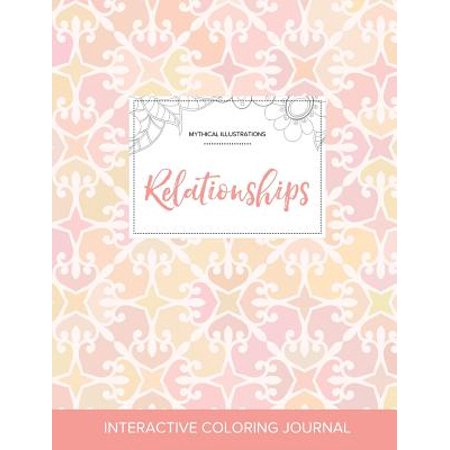adult coloring journal relationships mythical illustrations pastel elegance