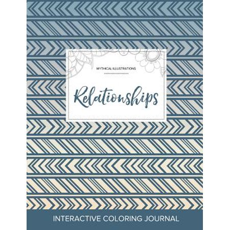adult coloring journal relationships mythical illustrations tribal