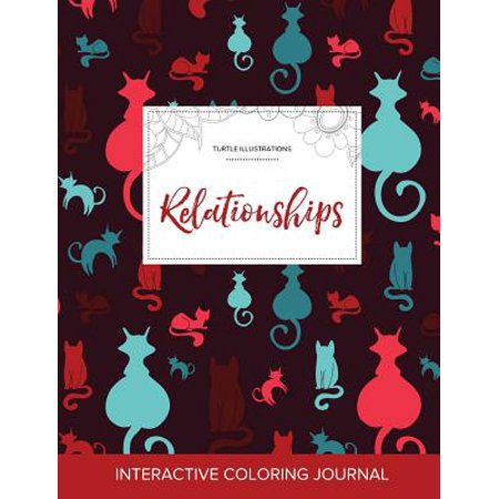 adult coloring journal relationships turtle illustrations cats