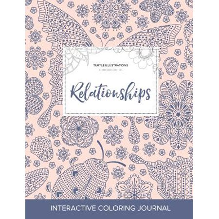 adult coloring journal relationships turtle illustrations ladybug