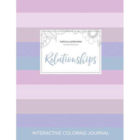 adult coloring journal relationships turtle illustrations pastel stripes