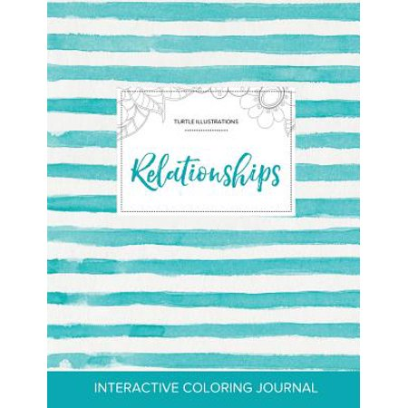 adult coloring journal relationships turtle illustrations turquoise stripes