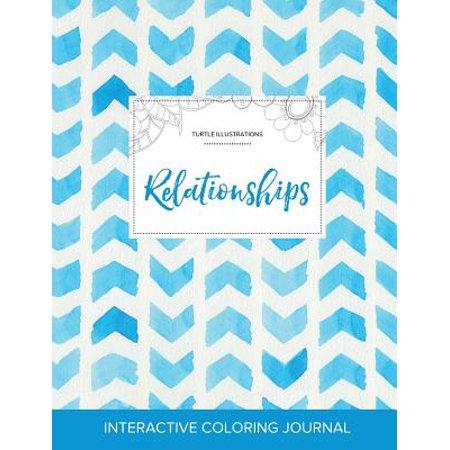 adult coloring journal relationships turtle illustrations watercolor herringbone