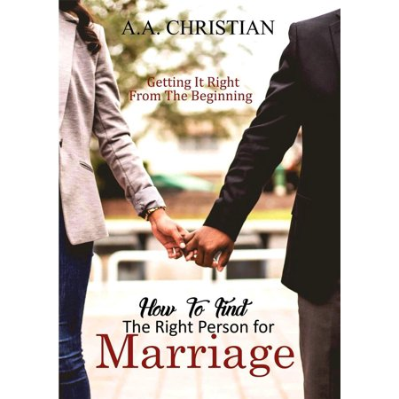 how to find the right person for marriage ebook