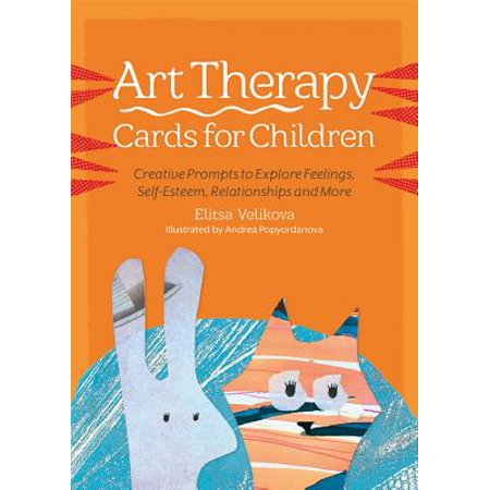 art therapy cards for children creative prompts to explore feelings self esteem relationships and