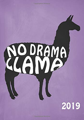 No Drama Llama Weekly Planner and Monthly Calendar with Inspirational