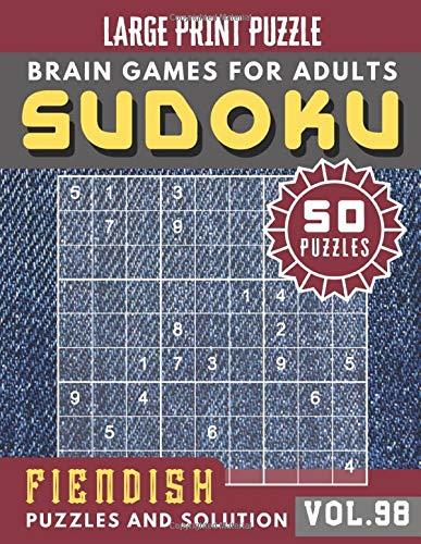 Sudoku for adults: Fiendish Sudoku | Hard Sudoku book for Expert | Large Print S...